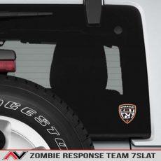 Seven Slat Zombie Response Team Decal