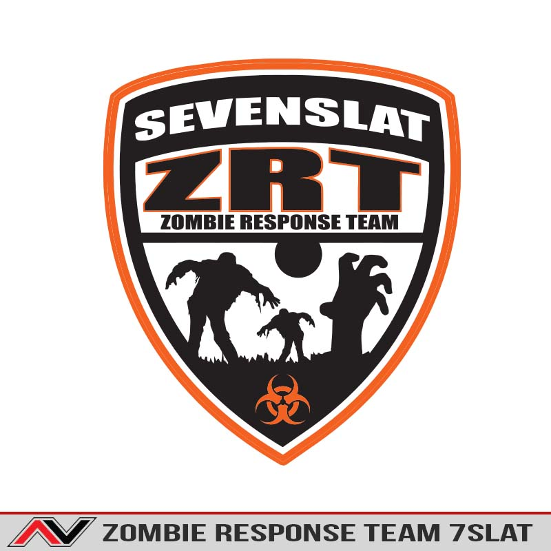 Seven slat zombie response team decal sticker jeep