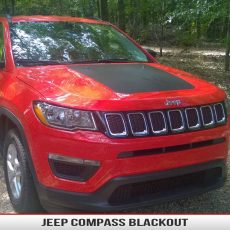 Jeep Compass Blackout Large Hood Decal 2017