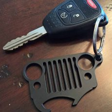 Jeep Keychain Black Beer Opener Wrangler Key