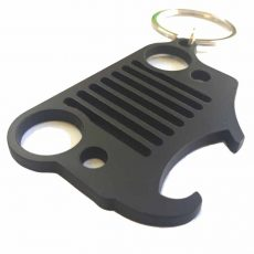 Jeep Beer Can Opener Keychain – Black Powder Coated