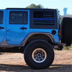 Jeep Wrangler JK Rear Window USA Flag