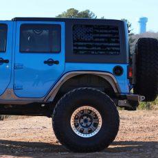 Jeep Wrangler JK Rear Window USA Distressed Flag