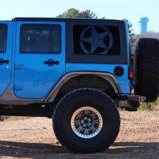Jeep Wrangler JK Rear Window Freedom Star