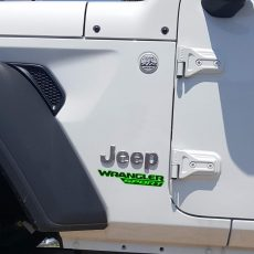Wrangler Sport Jl Style Hood Decal Lime Black