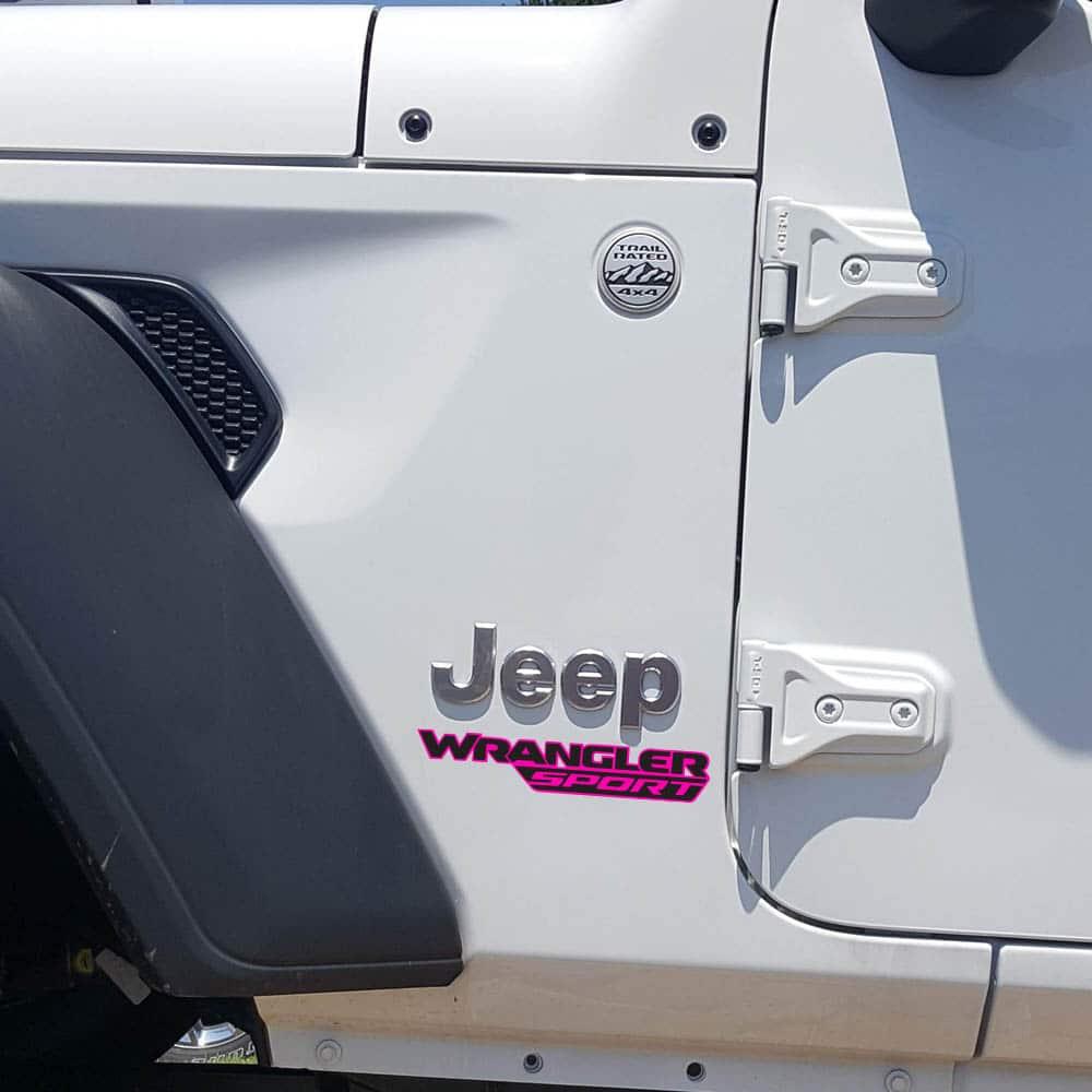 Wrangler-sport-jl-style-hood-decal-pink-black