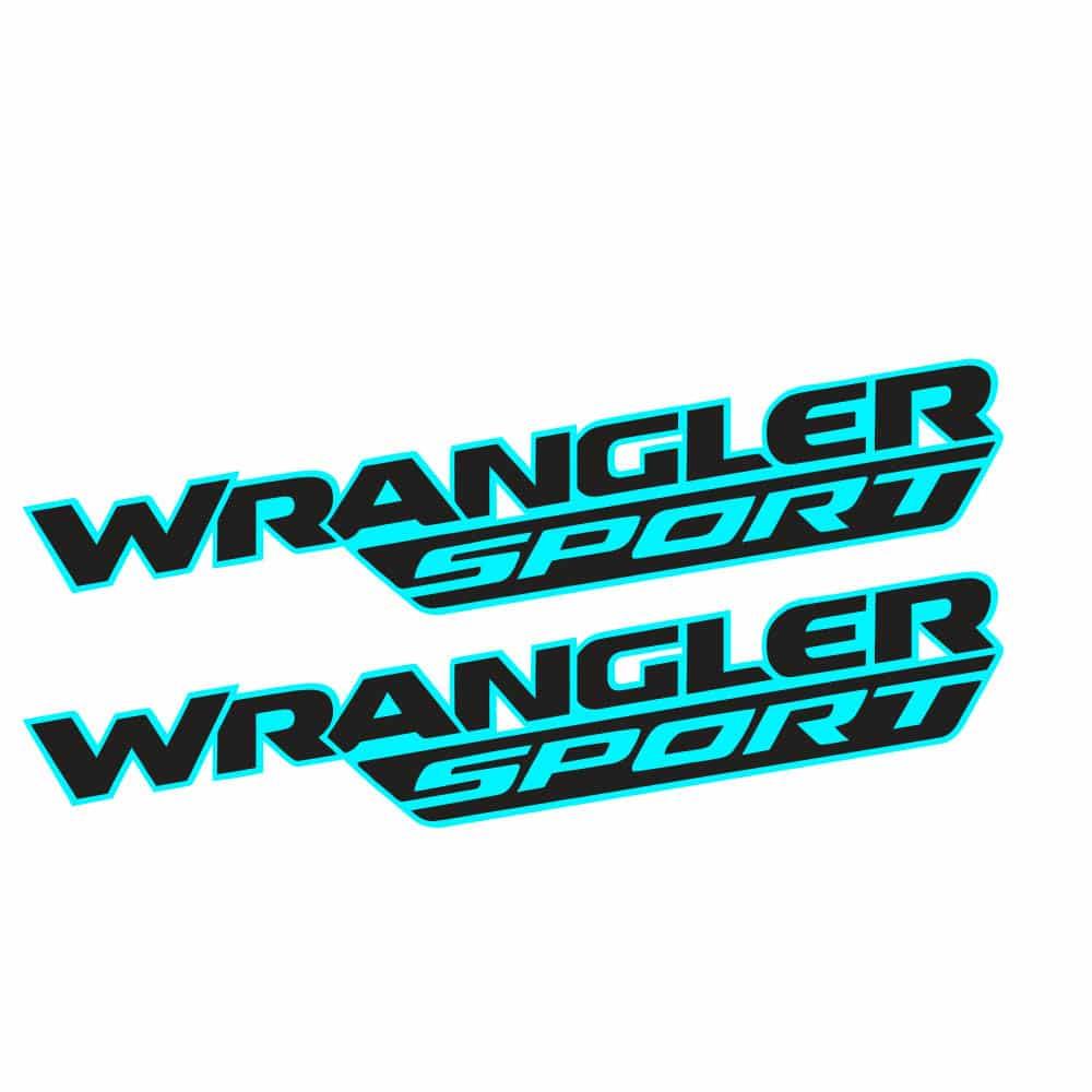 Wrangler-sport-jl-style-hood-decal-teal-black1