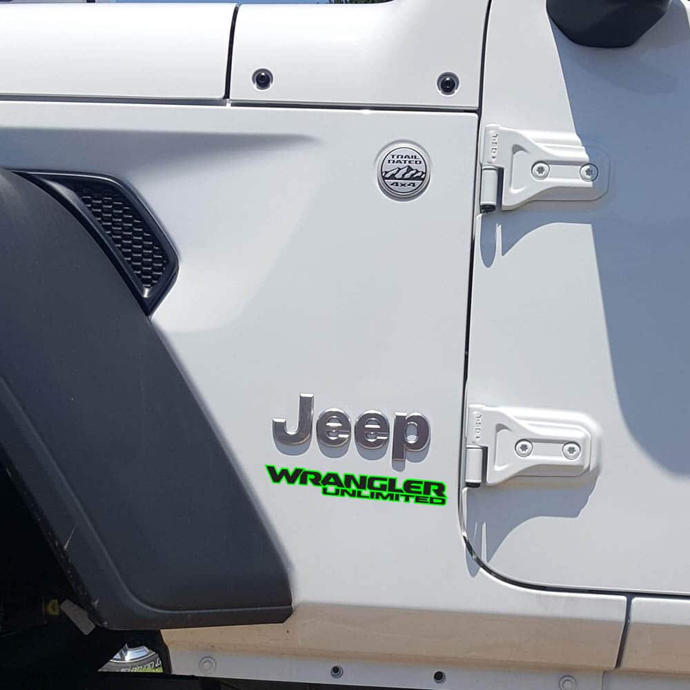 Wrangler-unlimited-jl-style-hood-decal-limegreen-black