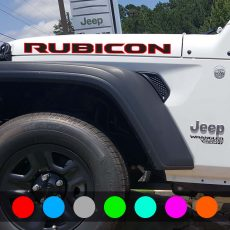 'RUBICON' New JL Style Hood Banner Dual Color