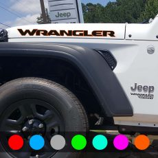 'WRANGLER' New JL Style Hood Banner Dual Color