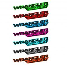 'Wrangler Sport' New JL Style Fender Decal
