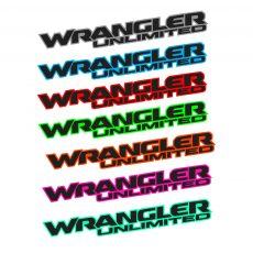 'Wrangler Unlimited' New JL Style Fender Decal