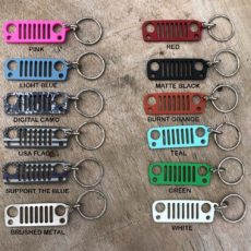 D-Ring Jeep Grille Keychain