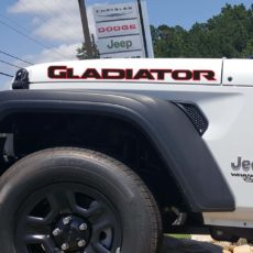 'GLADIATOR' New JL/JT Style Hood Banner Dual Color