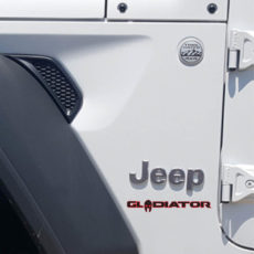 Gladiator Jt Jeep Wrangler Truck Red And Black Hood Decal Below Jeep
