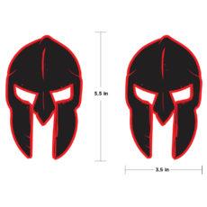 'GLADIATOR' Helmet Skulls New JL/JT Style Fender Decals