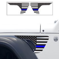Jeep Wrangler JL Fender Usa Decal TBL