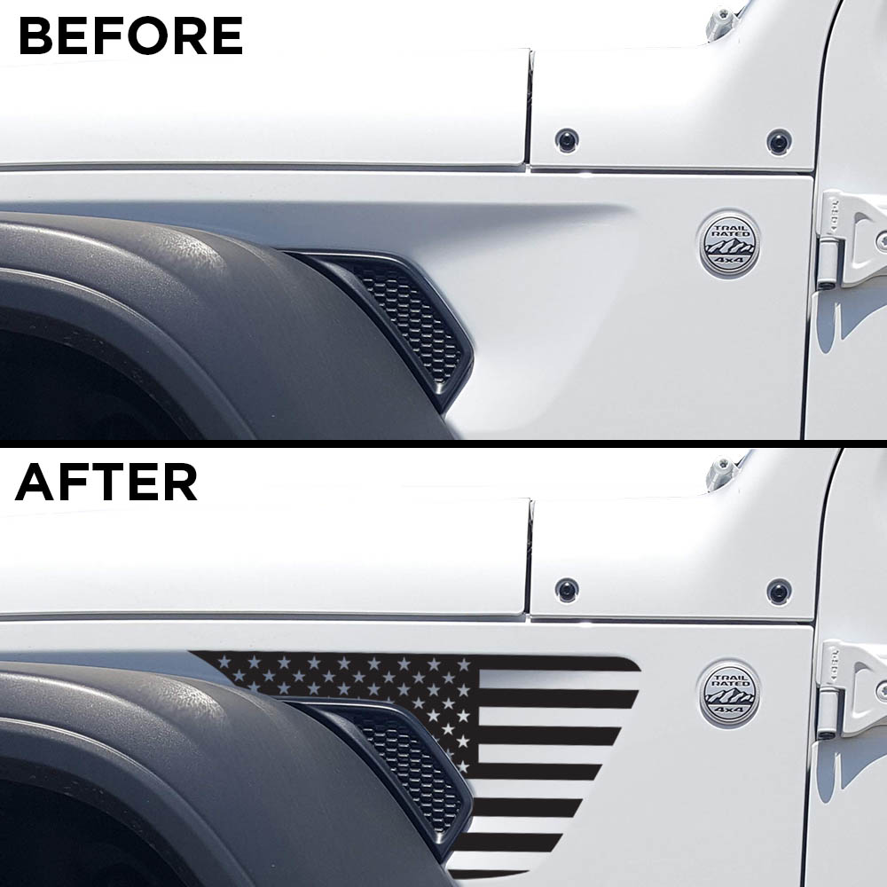 jeep-wrangler-JL-fender-usa-decal-before-after